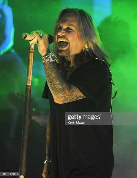 *EXCLUSIVE* Vince Neil of Motley Crue performs at The Late Show with David Letterman to promote their new album Saints of Los Angeles and to kick off...
