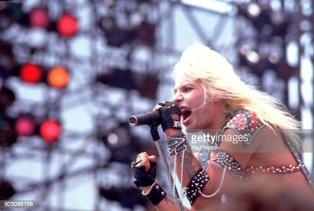 Vince Neil of Motley Crue performs at the US Festival in Ontario California May 30 1983