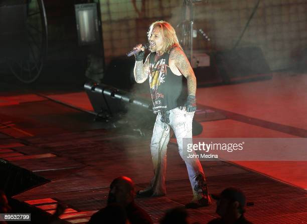 Vince Neil of Motley Crue performs during Crue Fest 2 at Shoreline Amphitheatre on July 30 2009 in Mountain View California