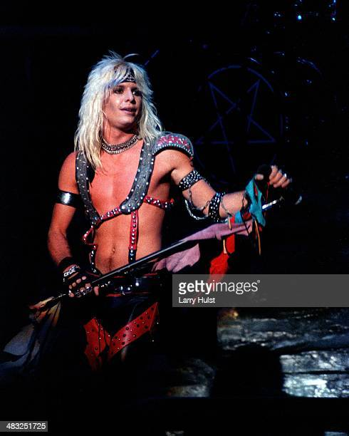 Vince Neil performing with Motley Crue at Warfield Theater in San Francisco California on April 24 1981