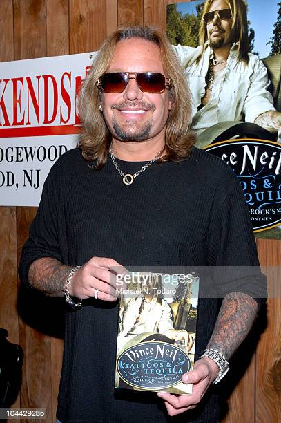 """Vince Neil promotes """"Tattoos & Tequila"""" at Bookends on September 24, 2010 in Ridgewood, New Jersey."""