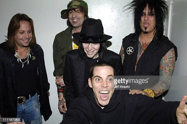 Vince Neil Tommy Lee Mick Mars Steve O and Nikki Sixx *Exclusive*