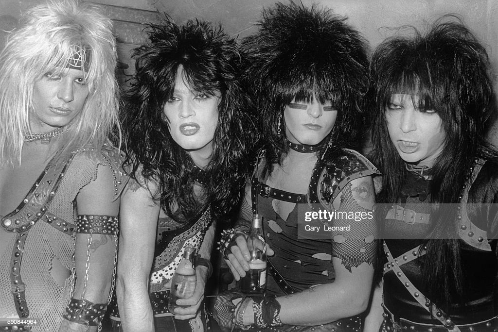 Vince Neil (singer), Tommy Lee (drums), Nikki Sixx (bass), and Mick Mars (guitar).