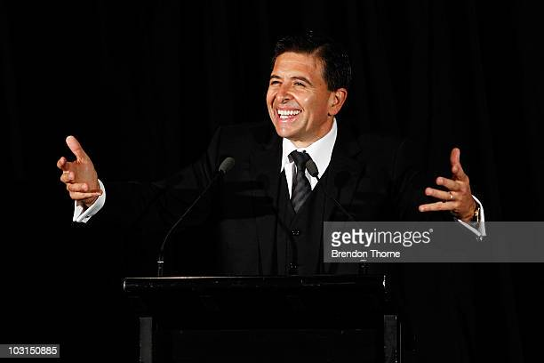 Vince Sorrenti performs during the Steve Corica Testimonial at Star City on July 29 2010 in Sydney Australia