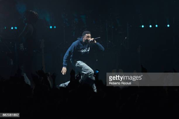 Vince Staples of Gorillaz performs at The SSE Hydro on November 29 2017 in Glasgow Scotland