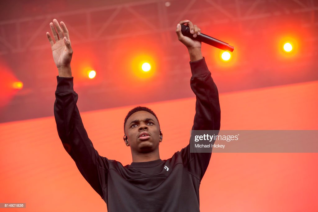 Vince Staples performs at the Pitchfork Festival at Union Park on July 14, 2017 in Chicago, Illinois.