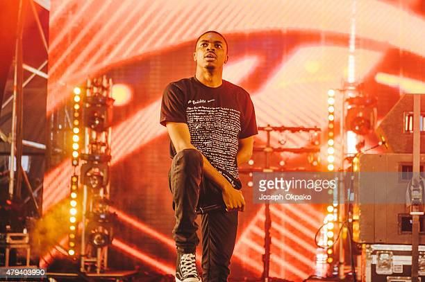 Vince Staples performs on Day 1 of the New Look Wireless Festival at Finsbury Park on July 3 2015 in London England
