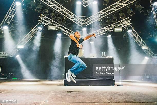 Vince Staples performs on the Pavilion stage during Roskilde Festival 2016 on June 29 2016 in Roskilde Denmark