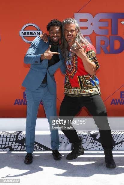 Vince Swann and Mark Harley attend the 2018 BET Awards at Microsoft Theater on June 24 2018 in Los Angeles California
