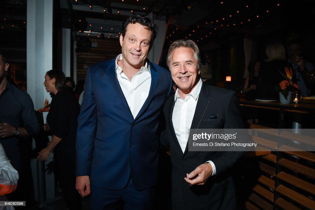 Vince Vaughn and Don Johnson attend 'Brawl In Cell Block 99' Premiere Party Hosted By Cactus Club Cafe At First Canadian Place In partnership With CIROC at First Canadian Place on September 12, 2017 in Toronto, Canada.