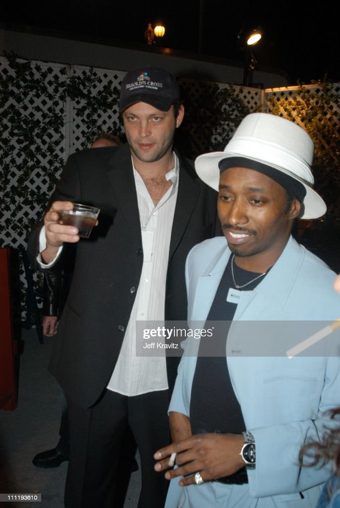 Vince Vaughn and Eddie Griffin during VH1 Big in 2002 Awards - After Party at Grand Olympic Auditorium in Los Angeles, CA, United States.