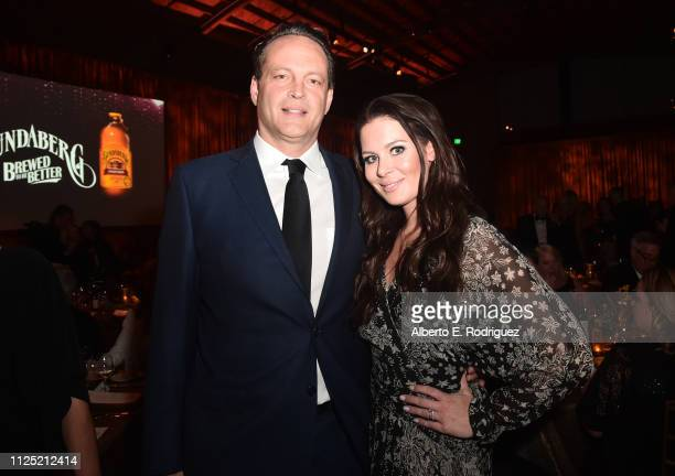 Vince Vaughn and Kyla Weber attend the 16th annual G'Day USA Los Angeles Gala at 3LABS on January 26 2019 in Culver City California