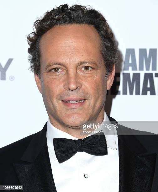 Vince Vaughn arrives at the 32nd American Cinematheque Award Presentation Honoring Bradley Cooper at The Beverly Hilton Hotel on November 29, 2018 in...