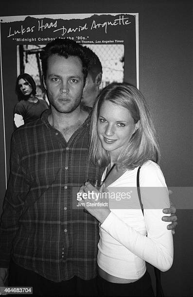 Vince Vaughn at the premiere of the David Arquette film 'Johns' at the AMC Fine Arts Theatre in Beverly Hills California on January 29 1997