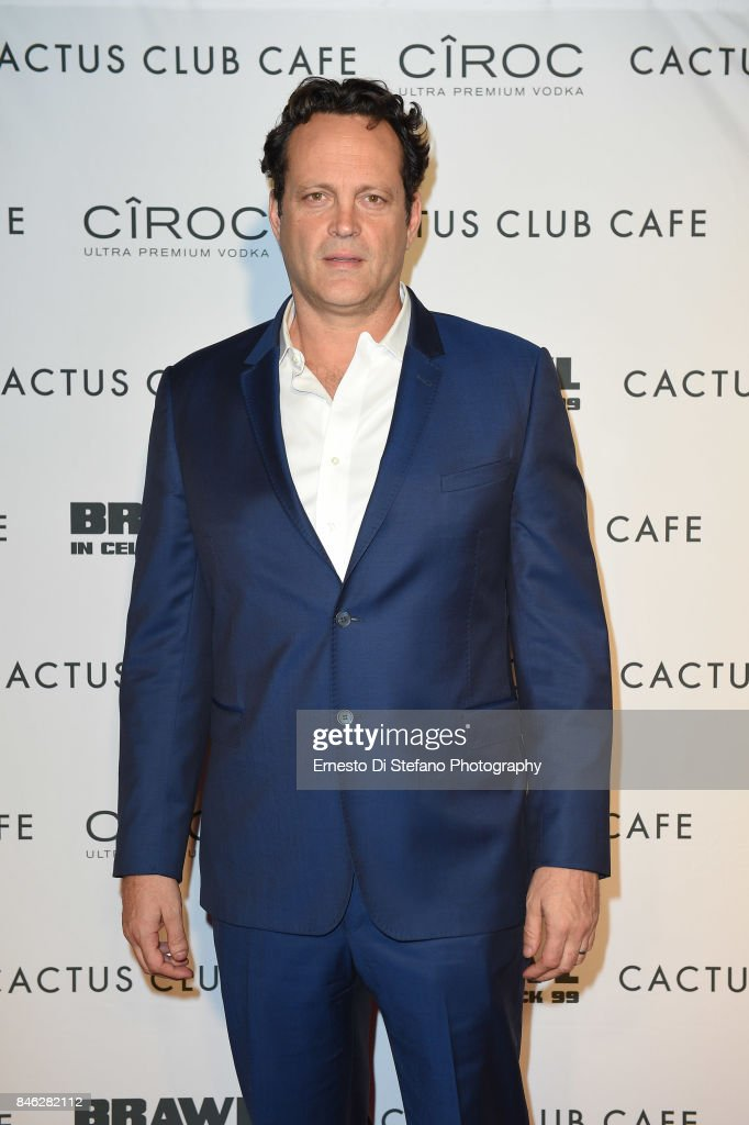 Vince Vaughn attends 'Brawl In Cell Block 99' Premiere Party Hosted By Cactus Club Cafe At First Canadian Place In partnership With CIROC at First Canadian Place on September 12, 2017 in Toronto, Canada.