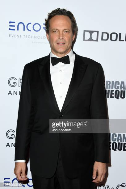 Vince Vaughn attends the 32nd American Cinematheque Award Presentation honoring Bradley Cooper at The Beverly Hilton Hotel on November 29, 2018 in...