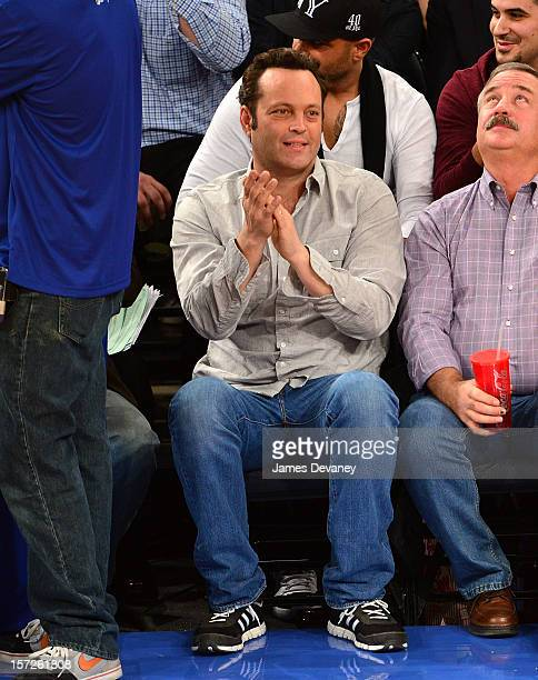 Vince Vaughn attends the Washington Wizards vs New York Knicks game at Madison Square Garden on November 30 2012 in New York City