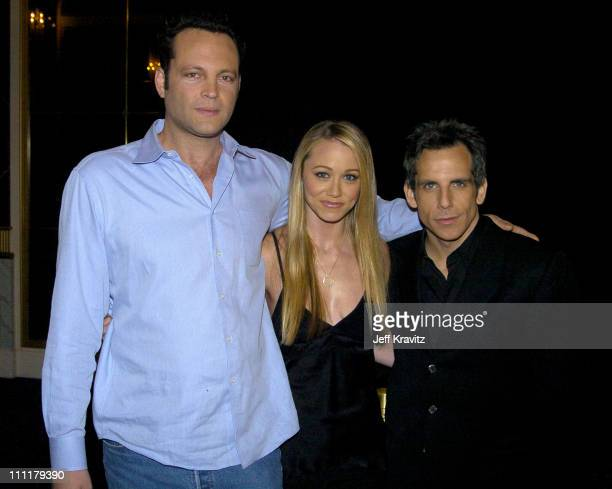 Vince Vaughn, Christine Taylor and Ben Stiller during ShoWest 2004 Fox Searchlight Pictures - Arrivals at Bally's Paris Hotel in Las Vegas, Nevada,...