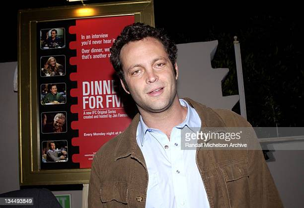 Vince Vaughn during Independent Film Channel Dinner For Five Launch Party at Argyle Hotel in Los Angeles California United States
