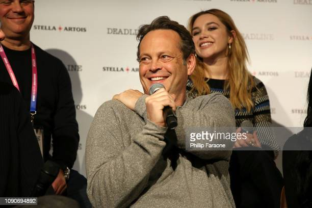 Vince Vaughn speaks onstage during the Stella Artois Deadline Sundance Series at Stella's Film Lounge A Live QA with the filmmakers and cast of...