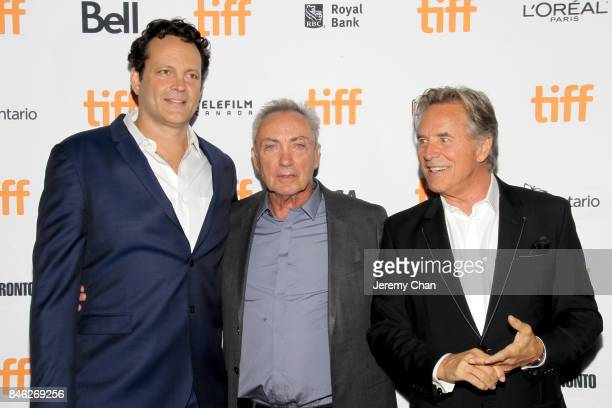 """Vince Vaughn, Udo Kier, and Don Johnson attend the """"Brawl in Cell Block 99"""" premiere during the 2017 Toronto International Film Festival at Ryerson..."""