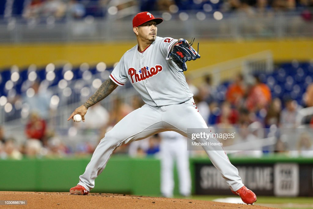 Philadelphia Phillies v Miami Marlins : Fotografía de noticias