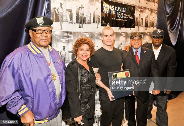 Vince Wilburn Sr Francis Davis first wife of Miles Davis actor/comedian Henry Rollins legendary drummer Jimmy Cobb and Vince Wilburn arrive at the...