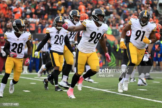 284e5f2d919 Vince Williams of the Pittsburgh Steelers celebrates after making a  defensive stop during the first quarter