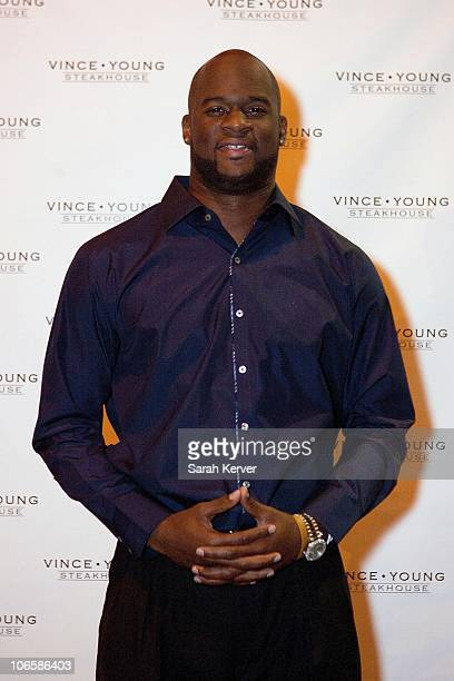 Vince Young attends the Vince Young Steakhouse opening on November 5 2010 in Austin Texas