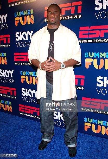 Vince Young during ESPN The Magazine Presents Summer Fun 2006 Arrivals at The Roosevelt Hotel in Hollywood California United States
