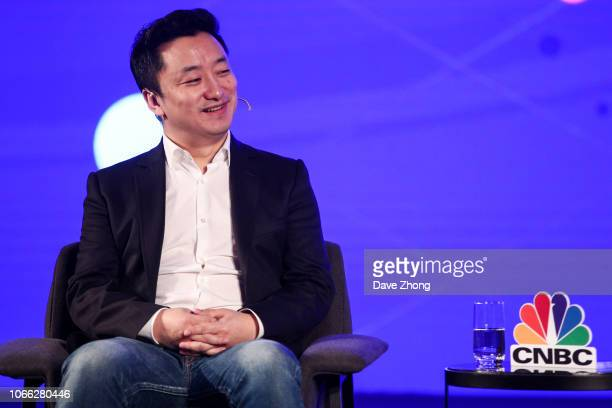 Vince Zhang President of Phoenix Finance speaks during Fireside Chat on Day 3 of CNBC East Tech West at LN Garden Hotel Nansha Guangzhou on November...