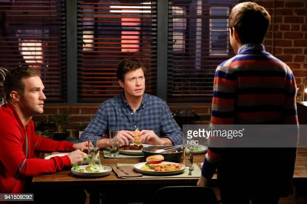 CHAMPIONS 'Vincemas' Episode 105 Pictured Andy Favreau as Matthew Anders Holm as Vince JJ Totah as Michael