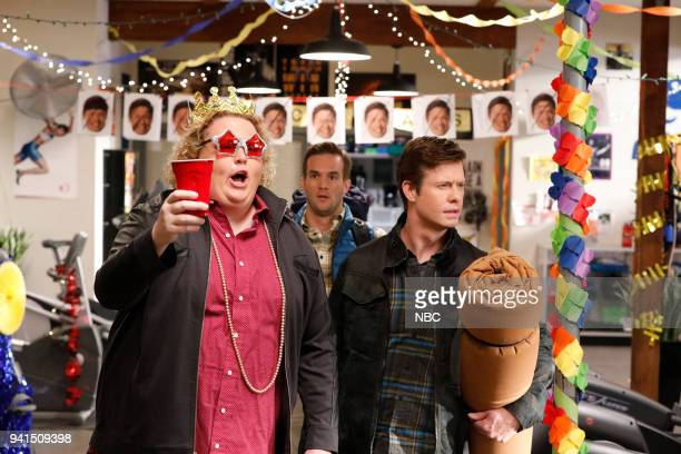 CHAMPIONS 'Vincemas' Episode 105 Pictured Fortune Feimster as Ruby Andy Favreau as Matthew Anders Hol as Vince