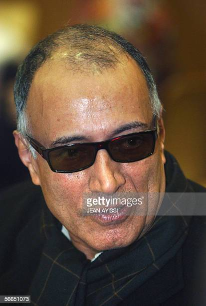 Portrait of Iranian director Abbas Kiarostami of the movie 'The roads' taken 23 January 2006 in Vincennes during the first edition of the...