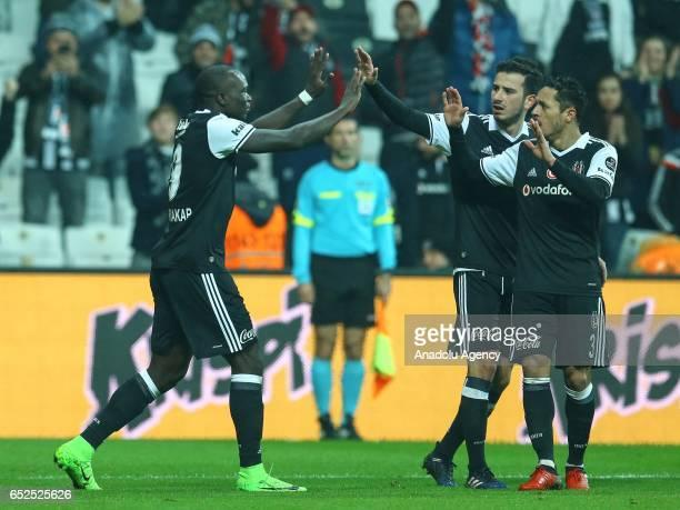Vincent Aboubakar of Besiktas celebrates after scoring a goal during the Turkish Spor Toto Super Lig football match between Besiktas and Kayserispor...