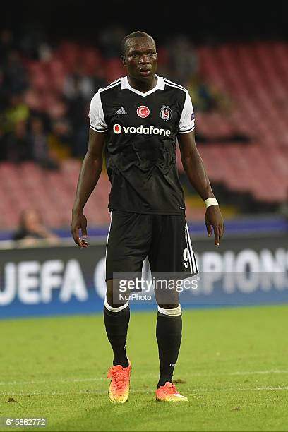Vincent Aboubakar of Besiktas during the UEFA Champions League match between SSC Napoli and Besiktas at Stadio San Paolo Naples Italy on 19 October...