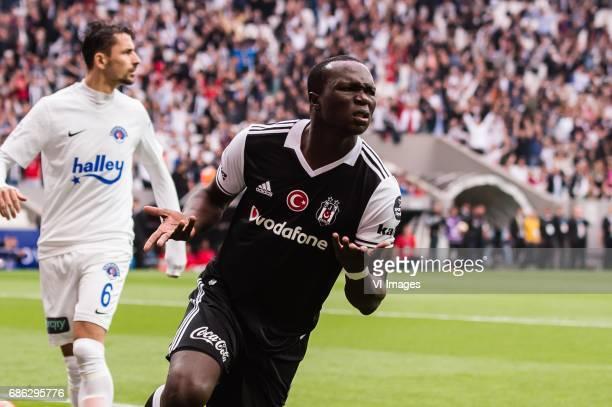 Vincent Aboubakar of Besiktas JKduring the Turkish Spor Toto Super Lig football match between Besiktas JK and Kasimpasa AS on May 20, 2017 at the...