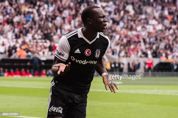 Vincent Aboubakar of Besiktas JKduring the Turkish Spor Toto Super Lig football match between Besiktas JK and Kasimpasa AS on May 20 2017 at the...