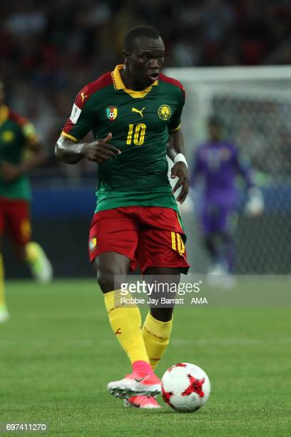 Vincent Aboubakar of Cameroon in in action during the FIFA Confederations Cup Russia 2017 Group B match between Cameroon and Chile at Spartak Stadium...