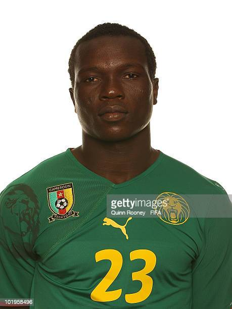 Vincent Aboubakar of Cameroon poses during the official FIFA World Cup 2010 portrait session on June 10 2010 in Durban South Africa