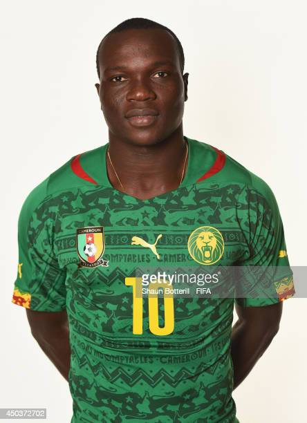 Vincent Aboubakar of Cameroon poses during the official FIFA World Cup 2014 portrait session on June 9 2014 in Vitoria Brazil