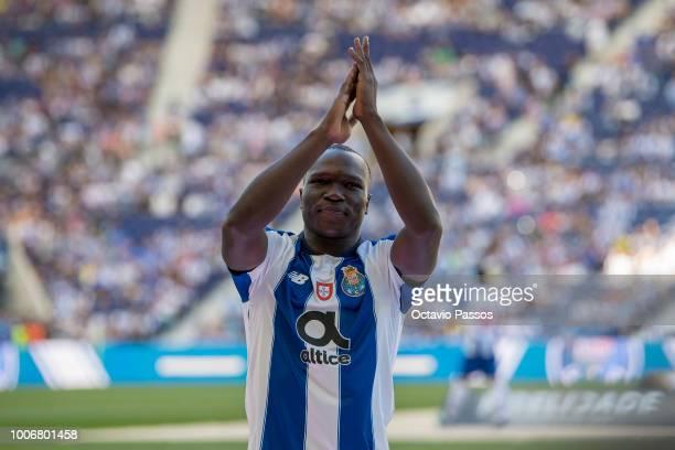 Vincent Aboubakar of FC Porto during the team presentation prior to the preseason friendly match between FC Porto and Newcastle at Estádio do Drago...