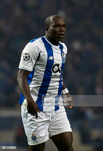 Vincent Aboubakar of FC Porto looks on during the UEFA Champions League group G match between FC Porto and AS Monaco at Estadio do Dragao on December...