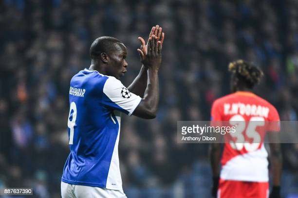 Vincent Aboubakar of Porto celebrates his goal during the Uefa Champions League match between Fc Porto and As Monaco at Estadio do Dragao on December...