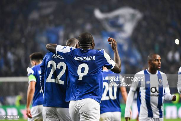 Vincent Aboubakar of Porto celebrates his goal with Danilo during the Uefa Champions League match between Fc Porto and As Monaco at Estadio do Dragao...