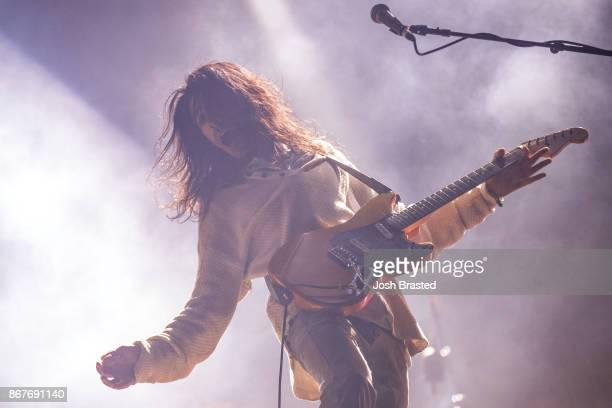 Vincent Accardi of Brand New performs during the 2017 Voodoo Music Arts Experience at City Park on October 28 2017 in New Orleans Louisiana
