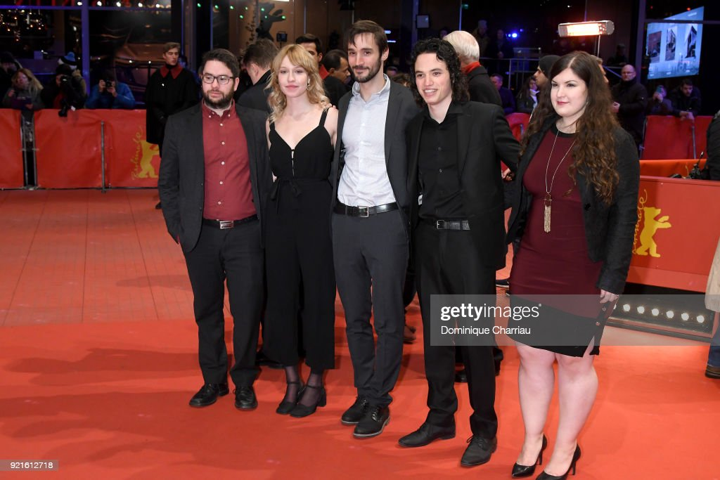 Vincent Allard, Rose Marie Perreault, Pascal Plante, Anthony Therrien and Katerine Lefrancois attend the Hommage Willem Dafoe - Honorary Golden Bear award ceremony and 'The Hunter' screening during the 68th Berlinale International Film Festival Berlin at Berlinale Palast on February 20, 2018 in Berlin, Germany.