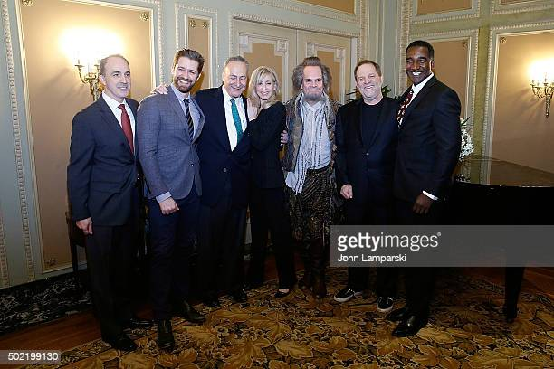 Vincent Alvarez Matthew Morrison Judith Light Harvey Weinstein and Norm Lewis attend as US Senator Charles E Schumer commemorates last week's change...