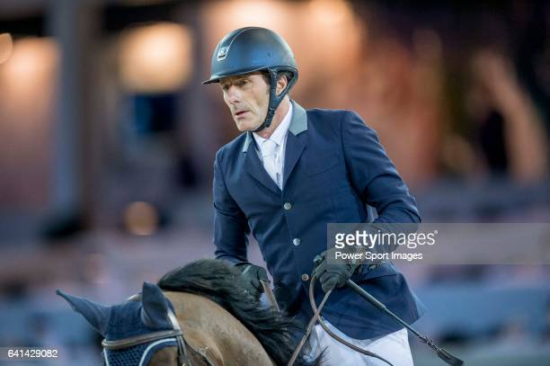 Vincent Bartin of France riding on Vintage Sologne competes during the EEM Trophy part of the Longines Masters of Hong Kong on 10 February 2017 at...