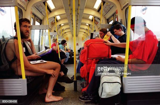 Vincent Bethell travels on the London Underground after he appeared at West London Magistrates Court on charges of disorderly behaviour Unemployed...